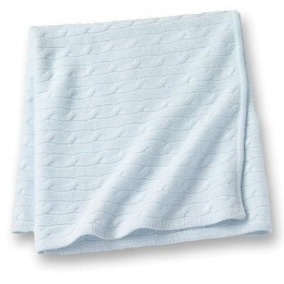 Angel Baby Blanket Baby Blue
