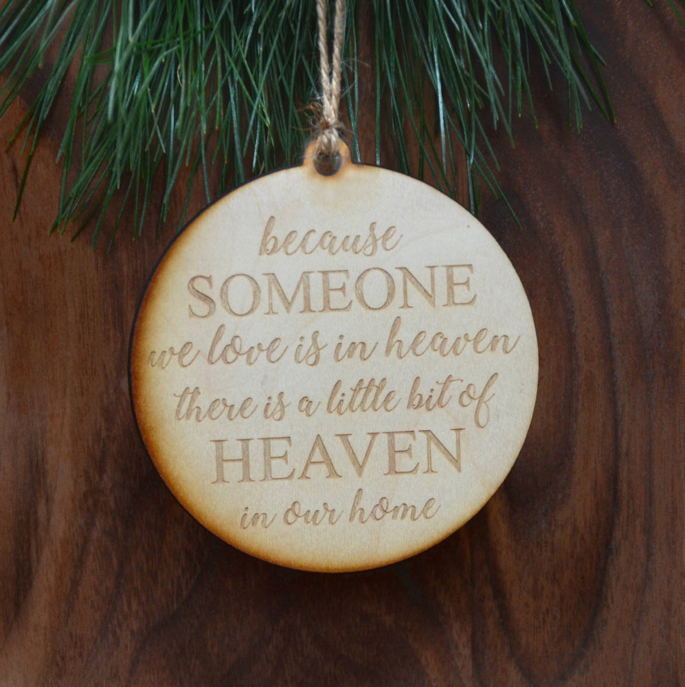 Heaven In Our Home Wood Ornament