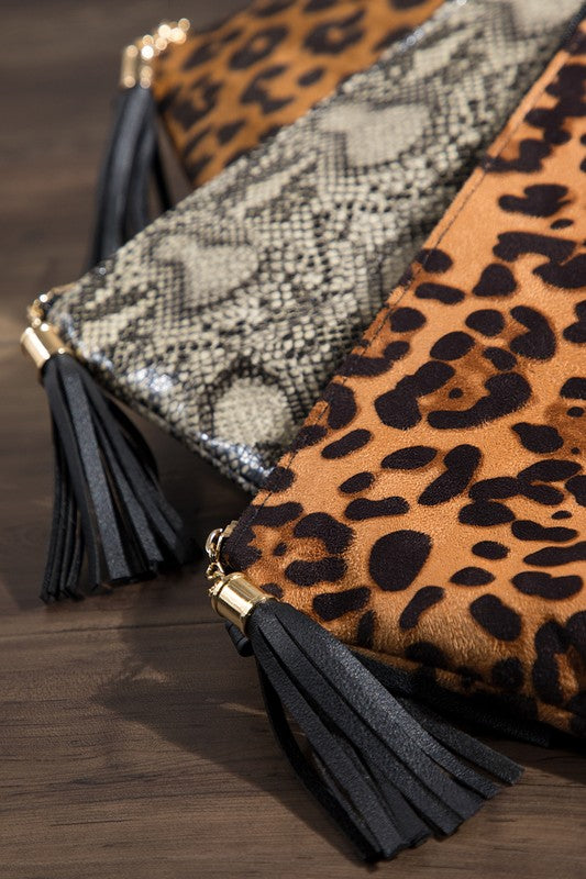 Animal Print Cross Body/Clutch Bag