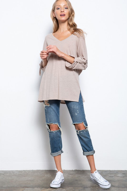 The Tahani Top- Tan