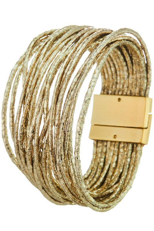 Layered Metallic Bracelet