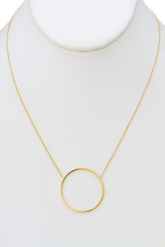 Circle Necklace-Gold