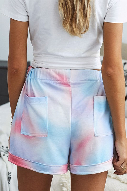 The Tye Dye Drawstring Shorts