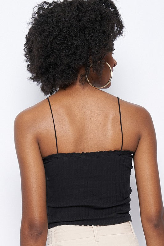 Tank Crop Top-Black