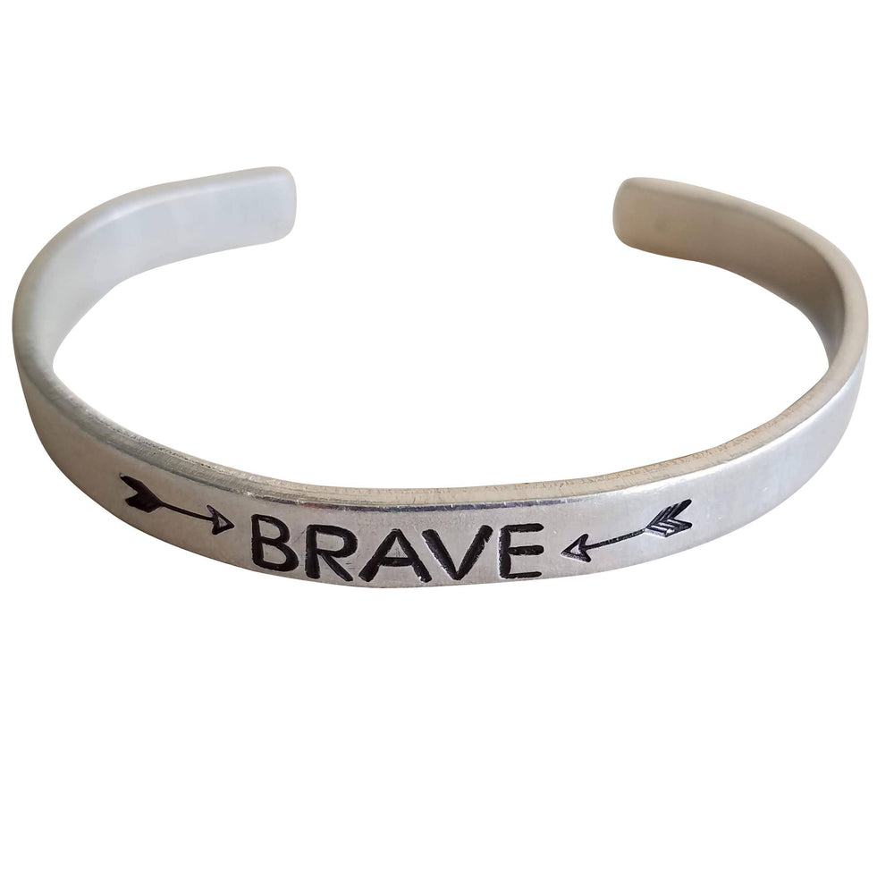 Brave Arrows Inspirational Mantra Cuff