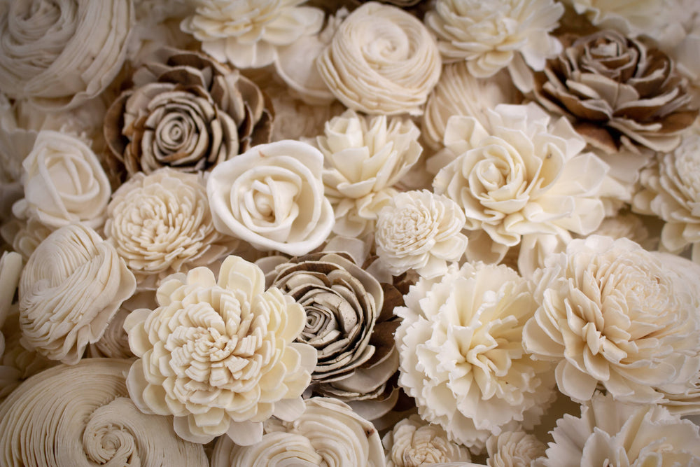 Sola Wood Flowers - 100 Random Assorted Wood Flowers