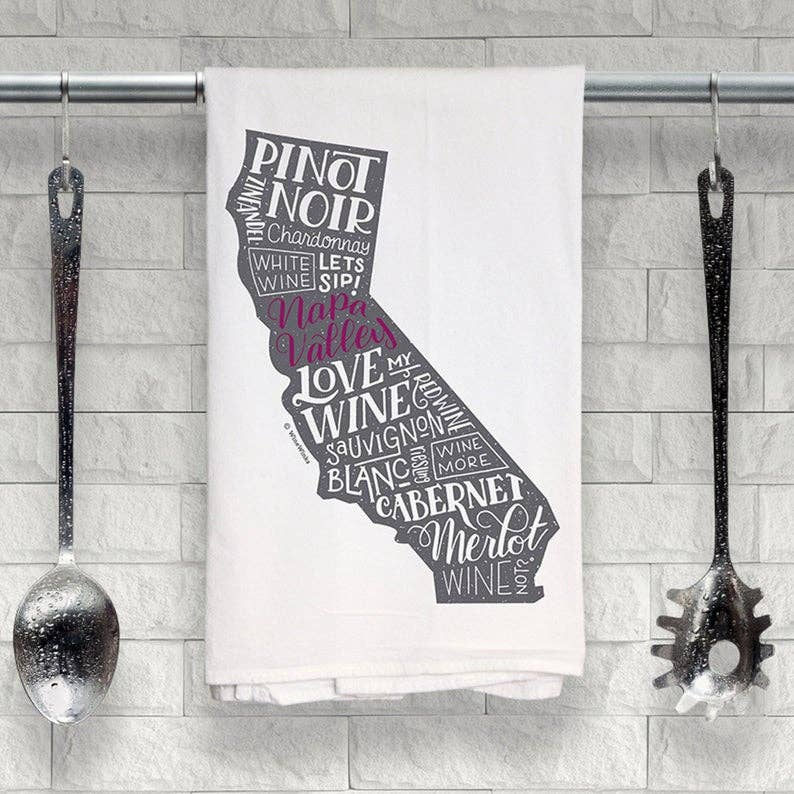 Napa Valley Love My Wine Kitchen Towel