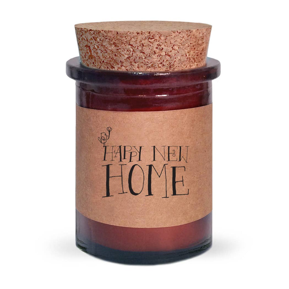 Happy New Home Amber Jar Soy Candle