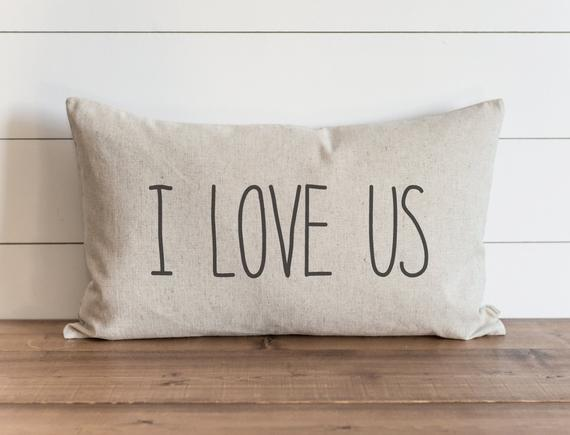 I Love Us Pillow .
