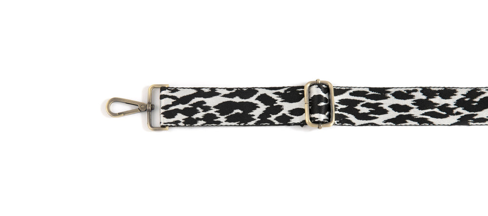 Pattern Guitar Strap - Black and White