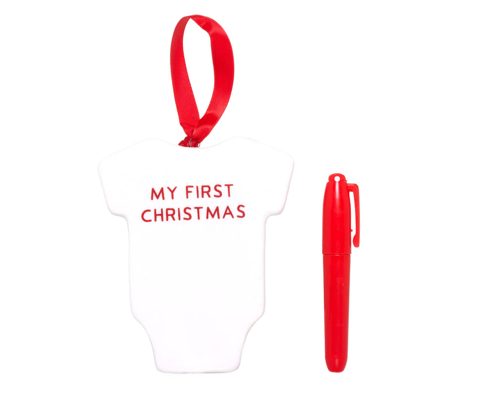 Baby's First Christmas Bodysuit Ornament