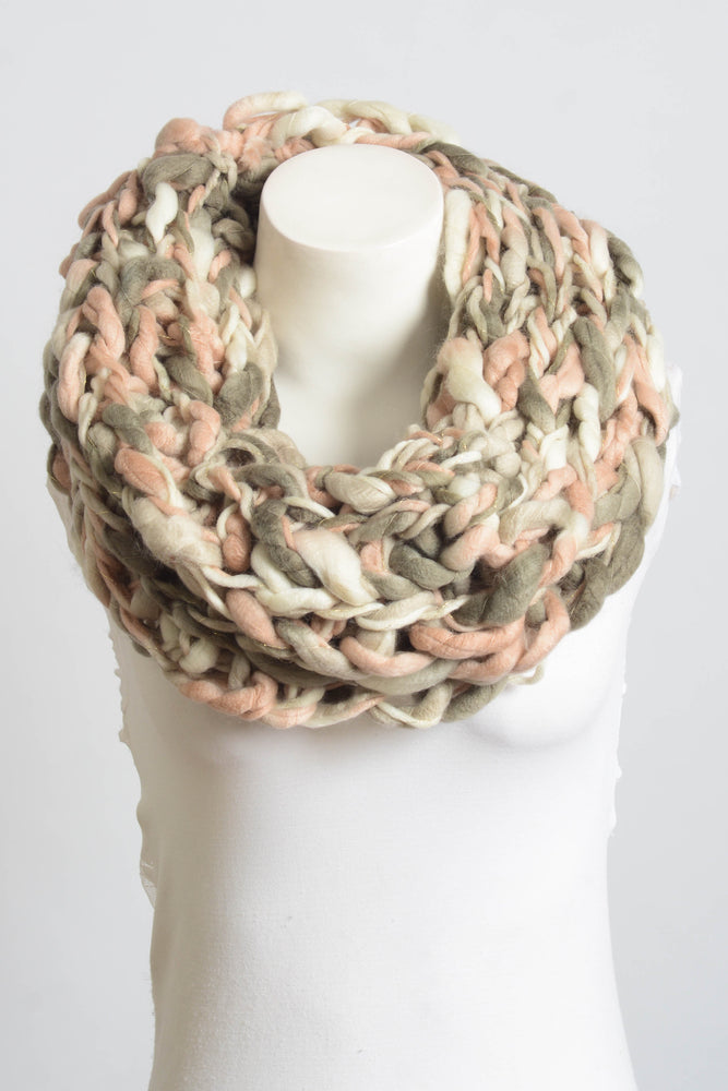 Rose Multicolor Braided Scarf