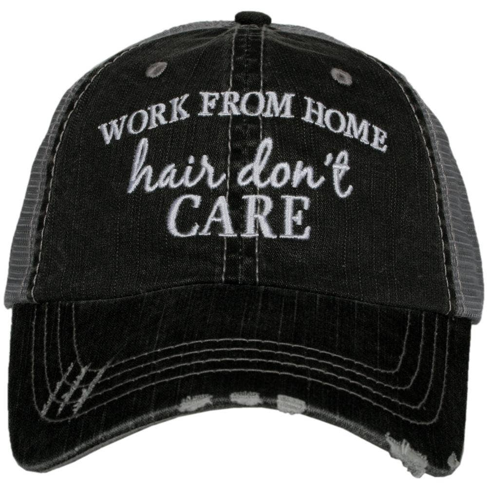 Work From Home Hair Don't Care Trucker Hat