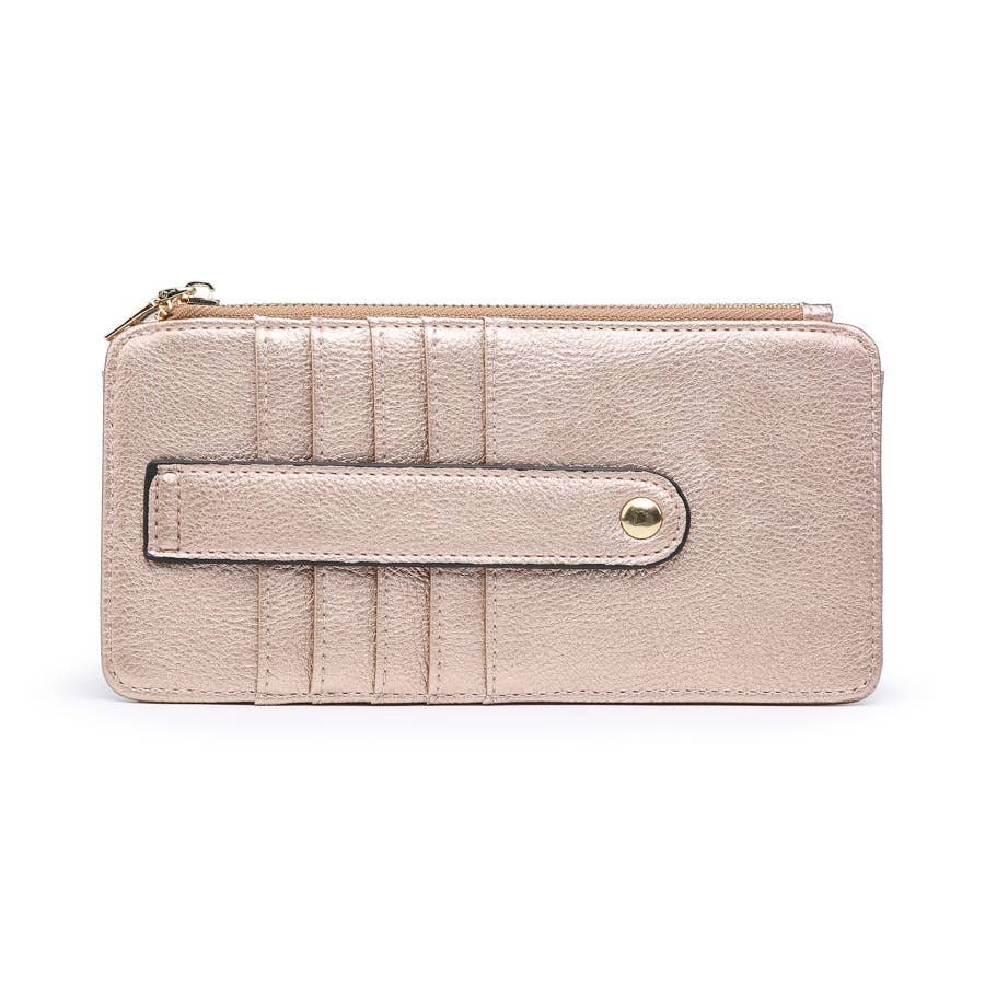 Rose Gold Slim Card Holder Wallet