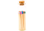 1.85in Multicolor Decorative Matches In Jar with striker