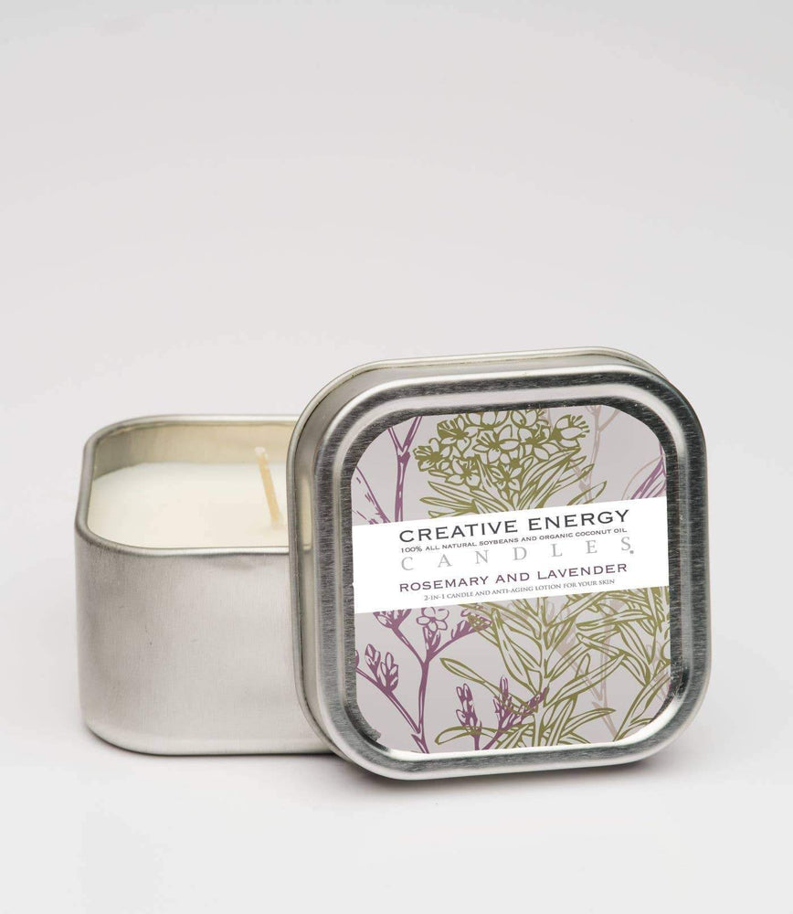 Rosemary & Lavender: 2-in-1 Soy Lotion Candle
