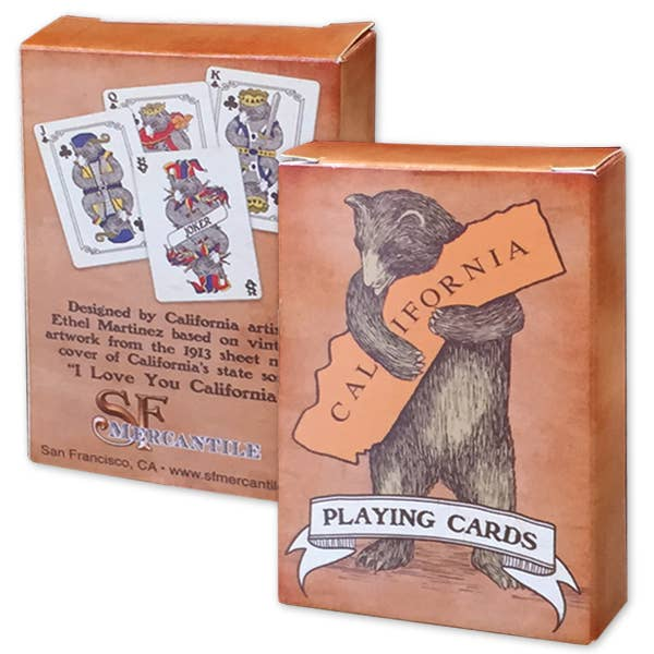 SF Mercantile - CA Bear Hug Playing Cards