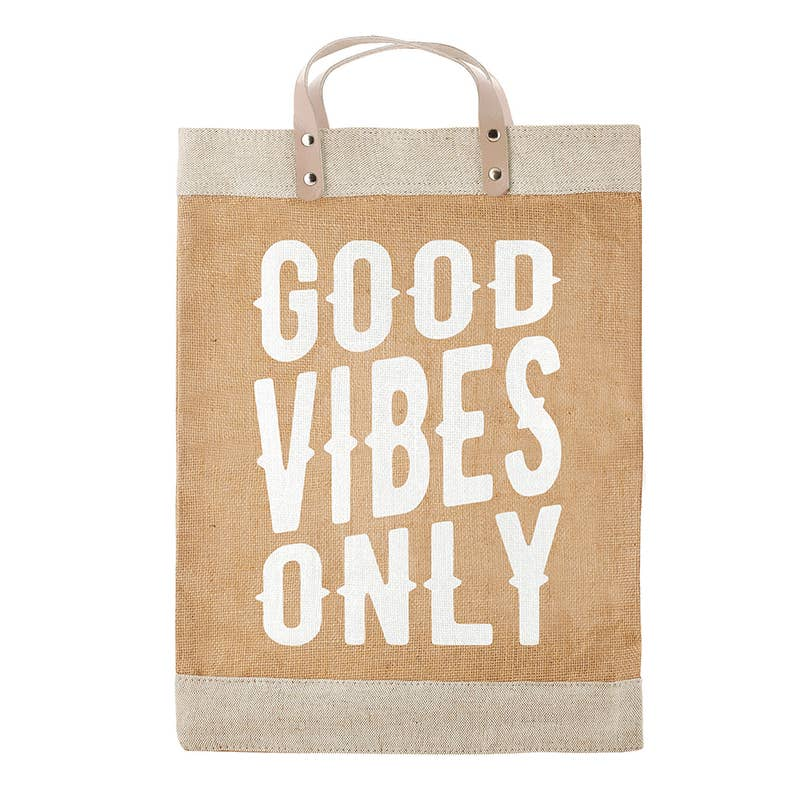 Market Tote - Good Vibes Only