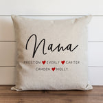 "Mom/Grandma/Nana/ Nonna Personalized Square 18"" PILLOW"