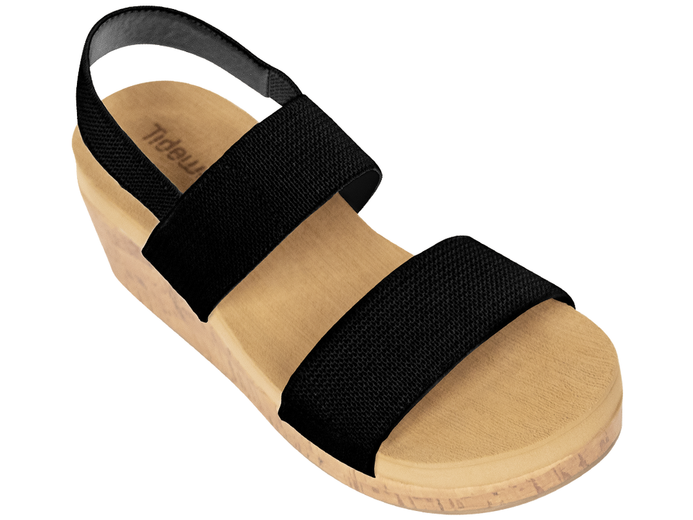 Tidewater Sandals & Flip Flops - Yadkin Black Wedges