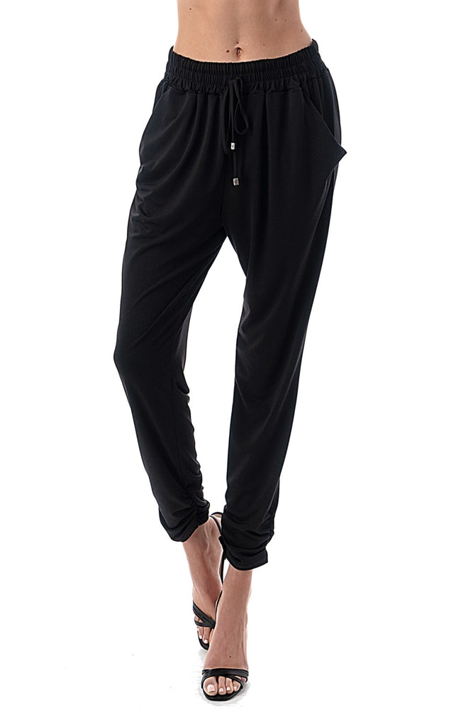 Black Ruched Joggers