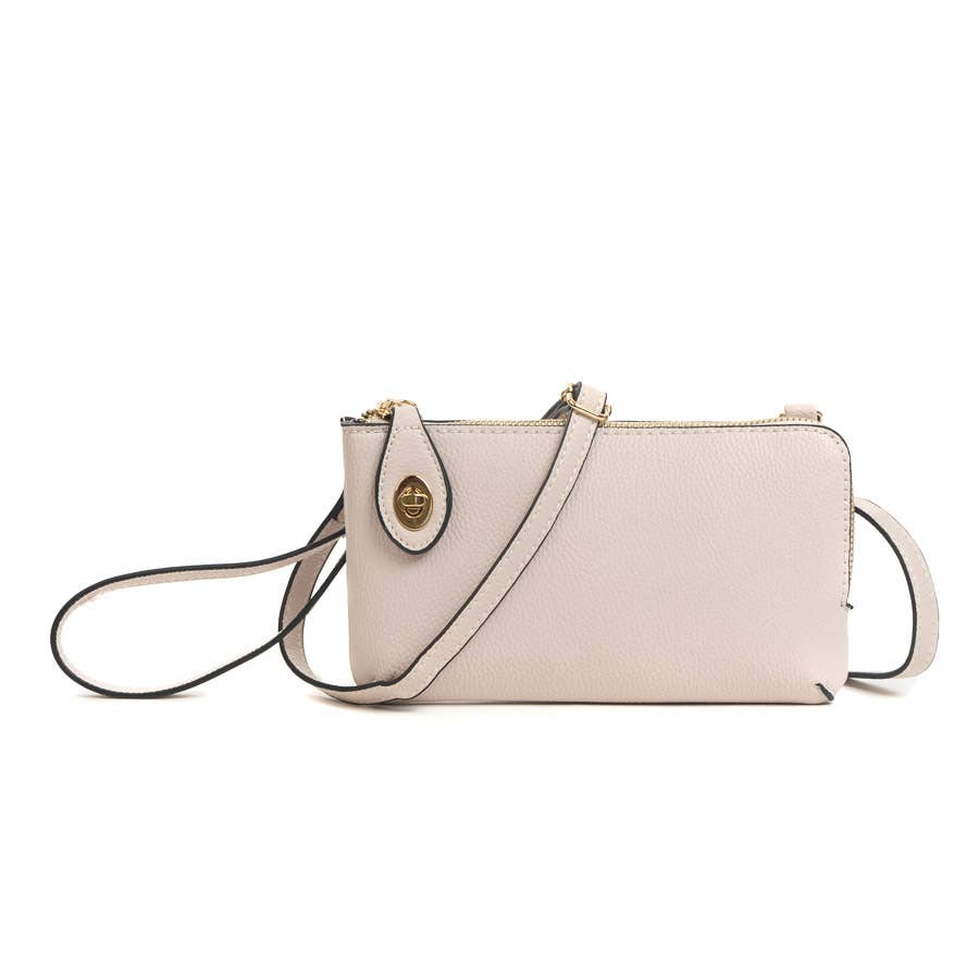 Twist Lock Crossbody-silver