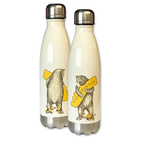 California Bear Hug Stainless Steel Water Bottle