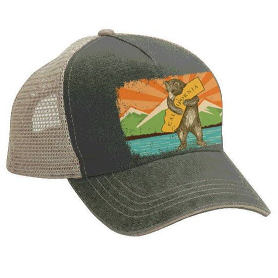 California Mountain Bear Trucker Hat
