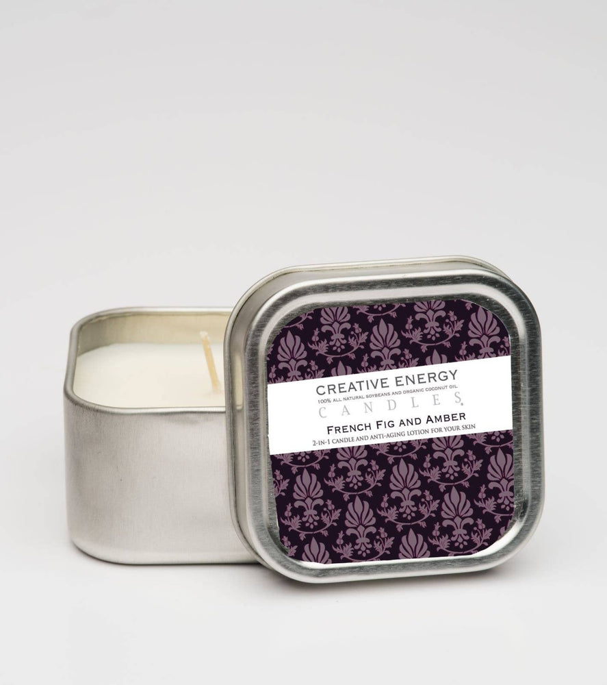 French Fig & Amber: 2-in-1 Soy Lotion Candle