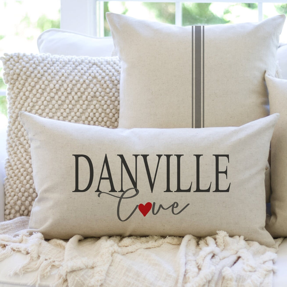 Custom Hometown LOVE pillow