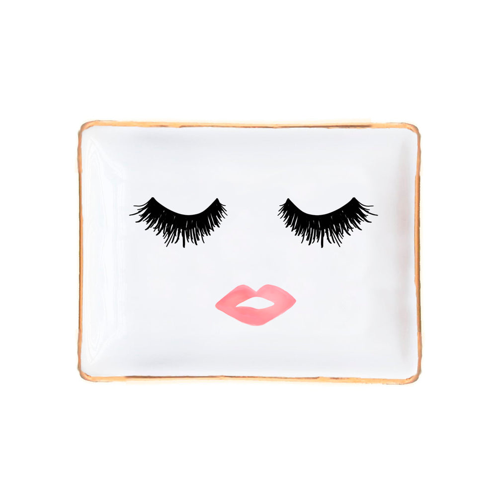 Sweet Water Decor - Lashes and Lips Jewelry Dish