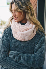 Pink Infinity Sherpa Lined Scarf