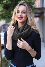 Grey Infinity Sherpa Lined Scarf