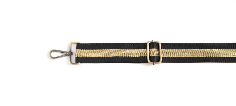 Stripe Guitar Strap - Gold