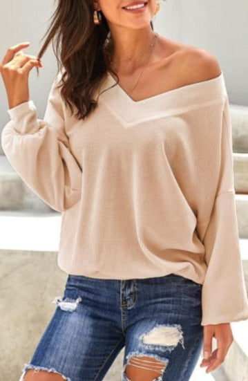 The Thermal Lounge Top -Cream