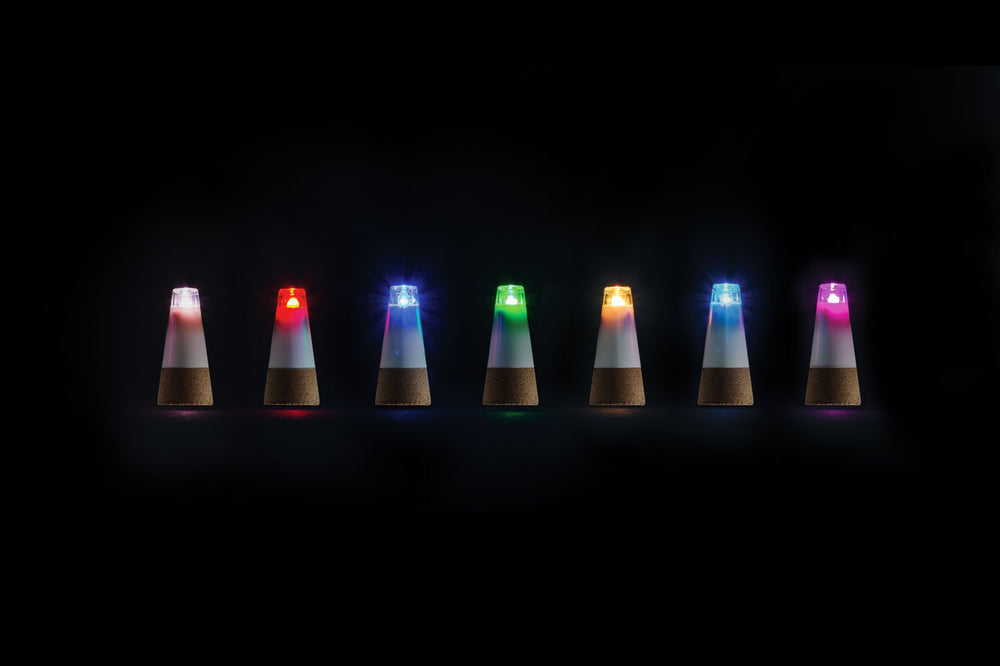 USB Rechargeable Multicolored Bottle Light