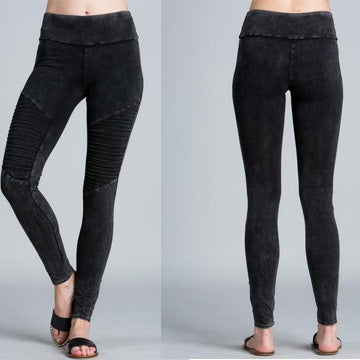 Jayden Moto Leggings - Black