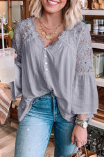 The Helena Top-Grey