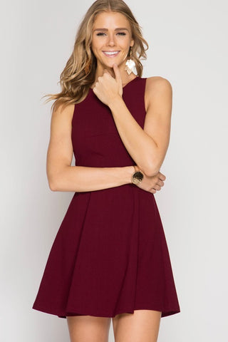 The Diablo Dress - Wine