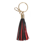Suede Tassel Key Charm (Red/Black)