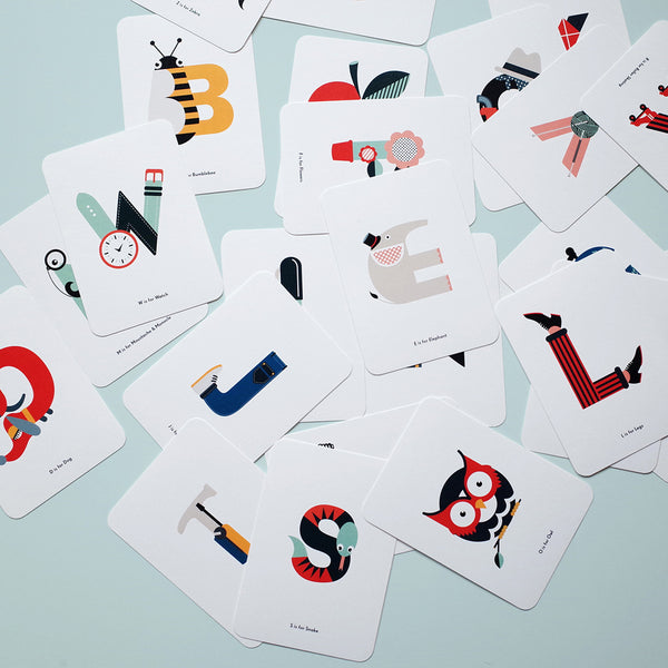 Full set of 26 alphabet flash cards