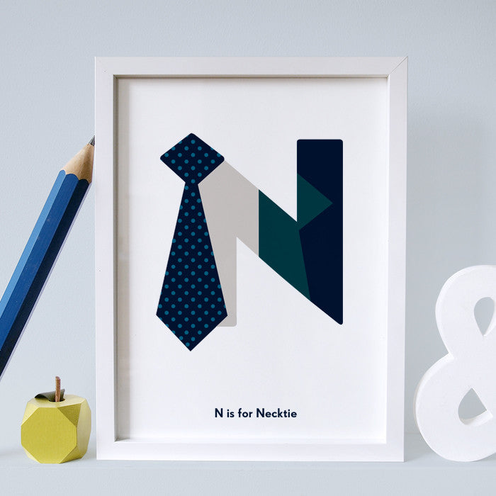 N is for Neck tie