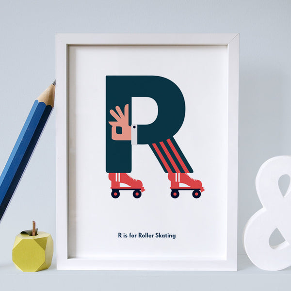 R is for Roller skating