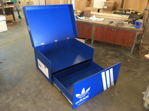 ... Giant Adidas Inspired Shoe Storage Box Wood ...