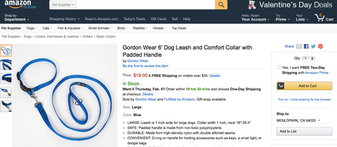 In case your dog prefers to purchase their new Gordon Wear leash & collar set via Amazon, they can do it now. Available worldwide.