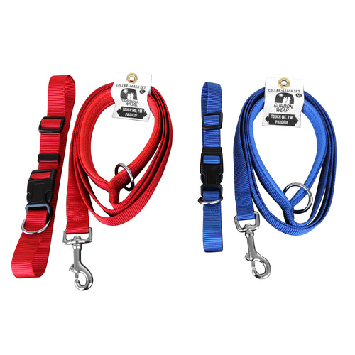 Dog Leash and Collar with Padded Handle - Best Selling Set, by Gordon Wear -  Dogs Outdoor  - 1
