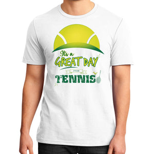 It's a Great Day For Tennis District T-Shirt (on man) - Gordon Wear
