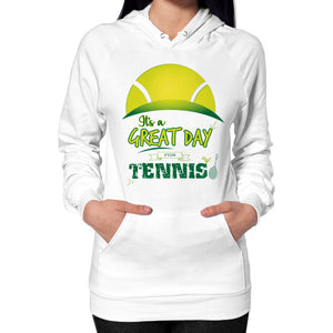 It's a Great Day For Tennis Hoodie (on woman) - Gordon Wear