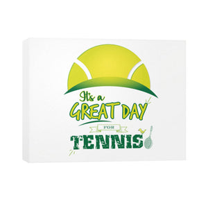 It's a Great Day For Tennis Horizontal Canvas - Gordon Wear