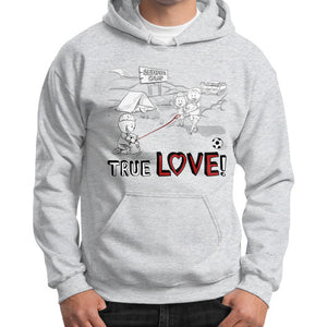 TRUE LOVE! Gildan Hoodie (on man) - Gordon Wear